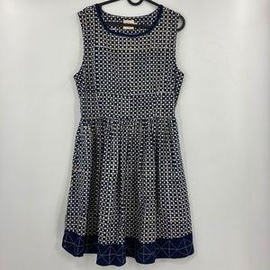Mata Traders Sleeveless A-Line Hand Printed Dress